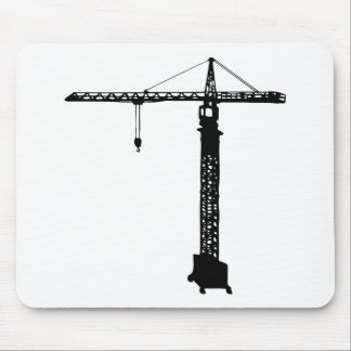 tower crane grue mouse pad