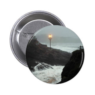 Tower in the Haze Pinback Button