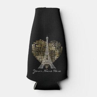 Tower & Inscriptions Paris in Heart Bottle Cooler