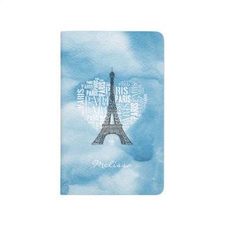 Tower & Inscriptions Paris in Heart Journal