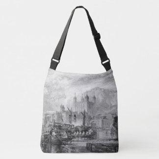 Tower London Boats Thames River Shoulder Tote Bag