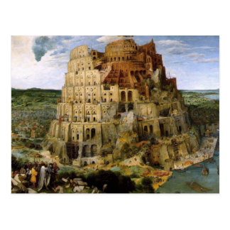 Tower of Babel - 1563 Postcard