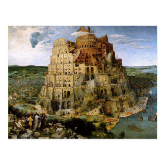 Tower of Babel by Brueghel Postcard