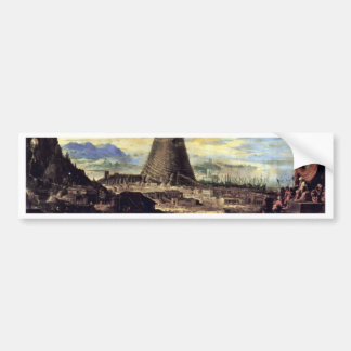 Tower Of Babel By Toeput Lodewyk Bumper Sticker