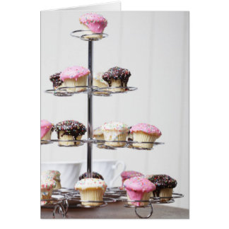 Tower of cupcakes or patty cakes card