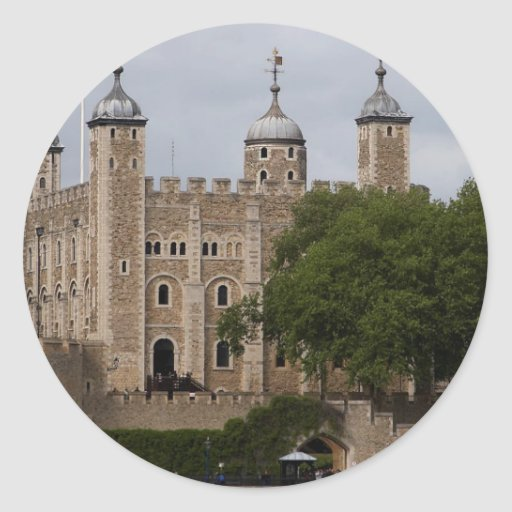 Tower Of London England Seen From Across The River Round Sticker