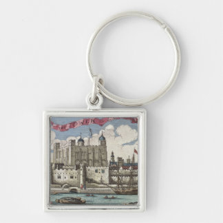 Tower of London Seen from the River Thames Keychains