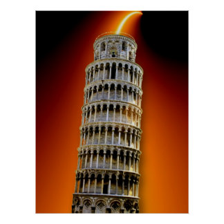 Tower of Pisa Energy Poster