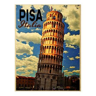 Tower Of Pisa ltaly Postcard