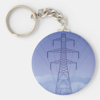 Tower Power Line Keychain