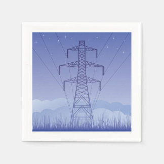 Tower Power Line Paper Napkins Disposable Napkin