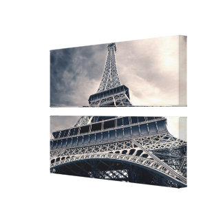 Towering Eiffel Tower Stretched Canvas Print