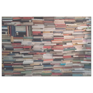 Towering Wall of Books Tissue Paper