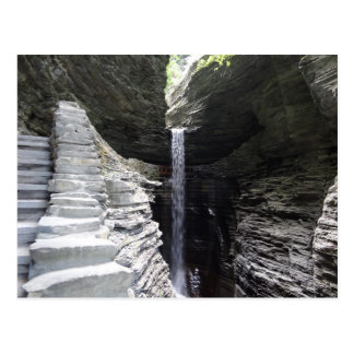 Towering Waterfall Watkins Glen Postcard