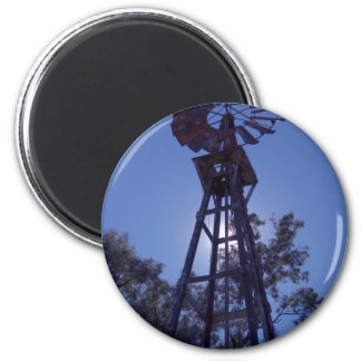 Towering Windmill 6 Cm Round Magnet