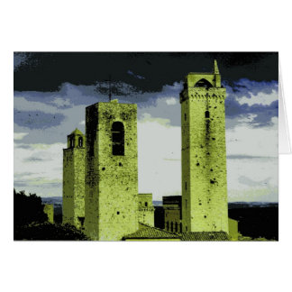 Towers of San Gimignano, Italy Card