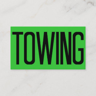 Towing business cards zazzle au towing bold florescent green business card reheart Images