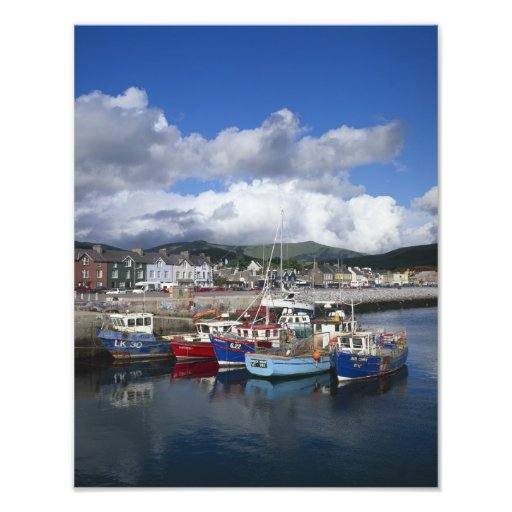 Town and Harbour, Dingle, County Kerry, Photographic Print