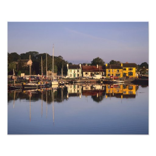 Town and harbour, Kinvarra, County Galway, Photographic Print