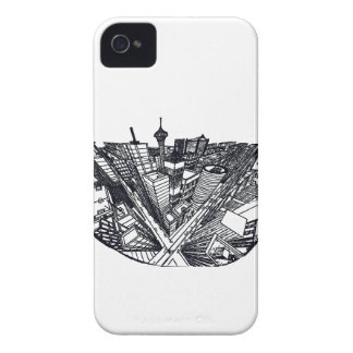 town center in 3 POINT perspective iPhone 4 Case