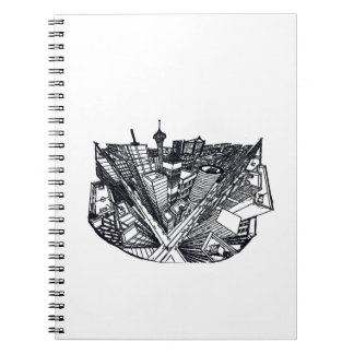 town center in 3 POINT perspective Notebook