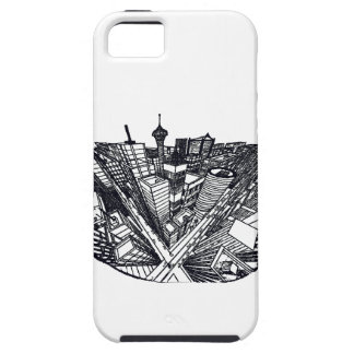 town center in 3 POINT perspective Tough iPhone 5 Case