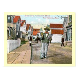 Town Crier Commercial St., Provincetown, Vintage Postcard