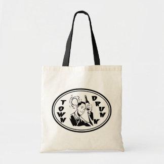 Town Drunk - Black & White Budget Tote Bag