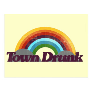 Town Drunk Postcard