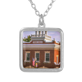 Town Hall Silver Plated Necklace