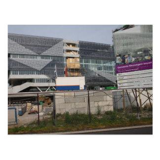 Town hall (under construction) postcard