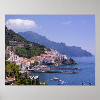 Town Of Amalfi Coast Italy Poster