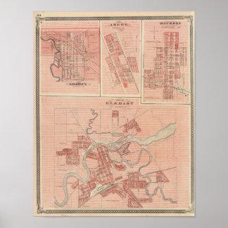 Town of Elkhart, Elkhart Co with Goshen Poster