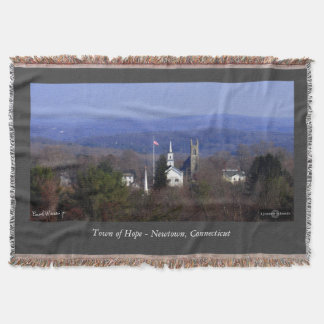 Town of Hope - Newtown, Connecticut Throw Blanket
