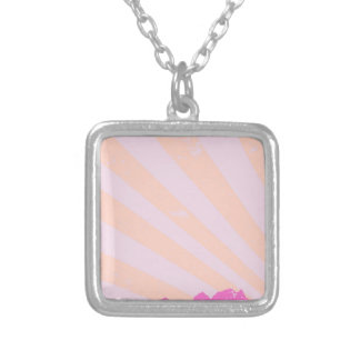 Town Rays Silhouette Grunge Silver Plated Necklace