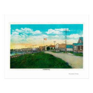 Town View of Fairbanks, AlaskaFairbanks, AK Postcard