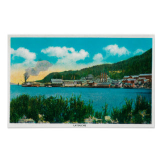 Town View of Latouche, AlaskaLatouche, AK Print