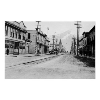 Town View of Skagway, Alaska Photograph Poster