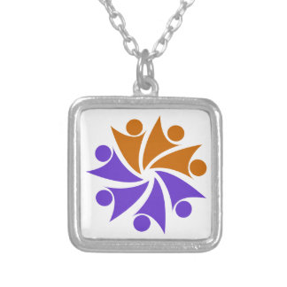 """TownCrafter """"Together"""" Logo Square Pendant Necklace"""