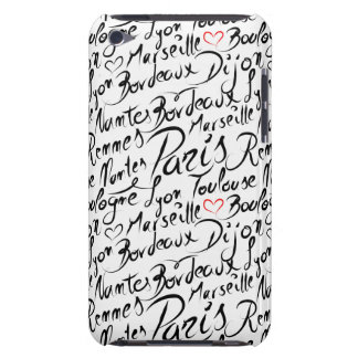 Towns of France Pattern Barely There iPod Case
