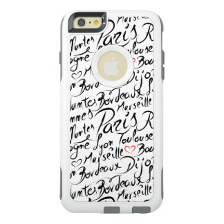Towns of France Pattern OtterBox iPhone 6/6s Plus Case