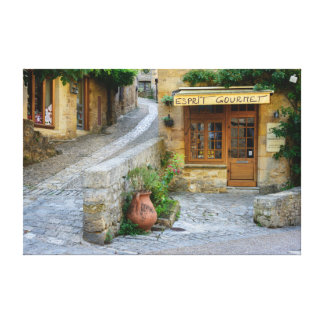 Townscape in Dordogne, France canvas print