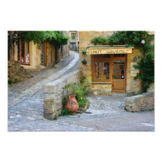 Townscape in Dordogne, France photo print