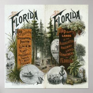 Township Map, Florida Poster