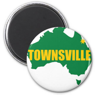 Townsville Green and Gold Map Magnet