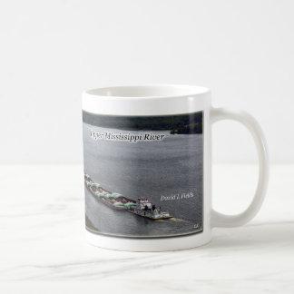 Tows Passing upper Mississippi River mug