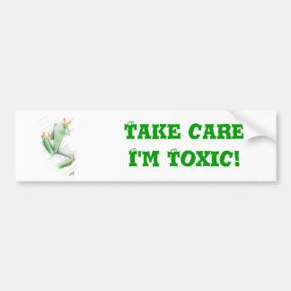 Toxic Frog Bumper Sticker