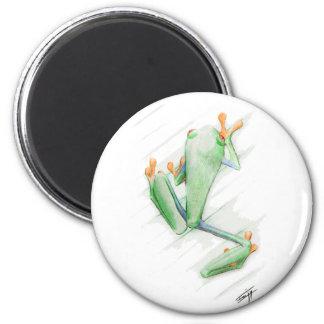 Toxic Frog 6 Cm Round Magnet