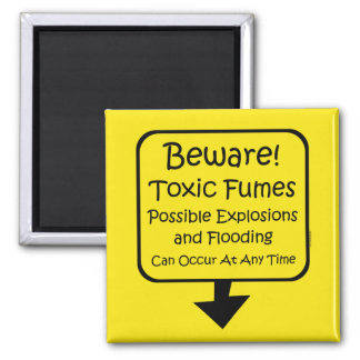 Toxic Fumes Baby Magnet