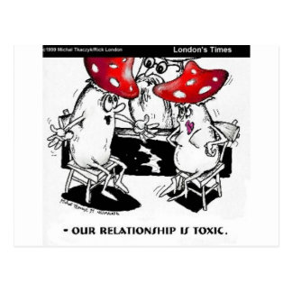 Toxic Relationships Funny Gifts Tees Collectibles Post Card